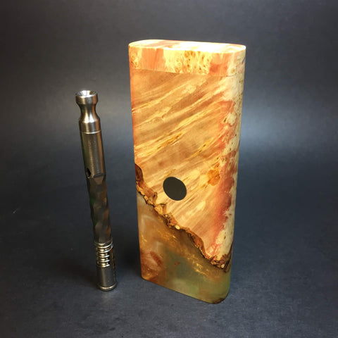 Galaxy Burl XL FutoStash #1283 - Stabilized Boxelder Burl - DynaVap Stash