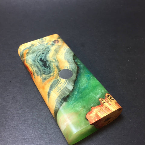 Galaxy Burl FutoStash #1292 - Glow in the dark - Stabilized Burl - DynaVap Stash