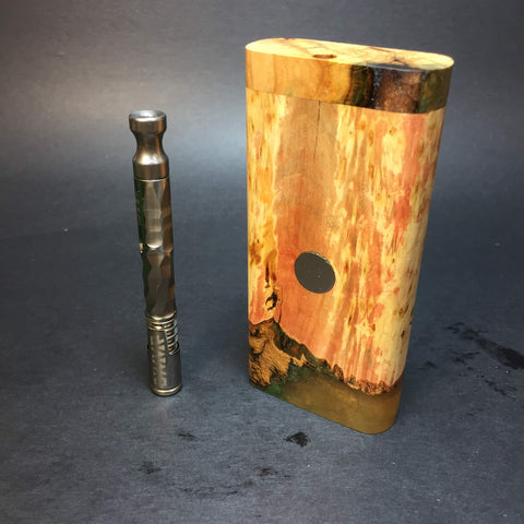 Galaxy Burl FutoStash #1302 - Stabilized Boxelder Burl - DynaVap Stash
