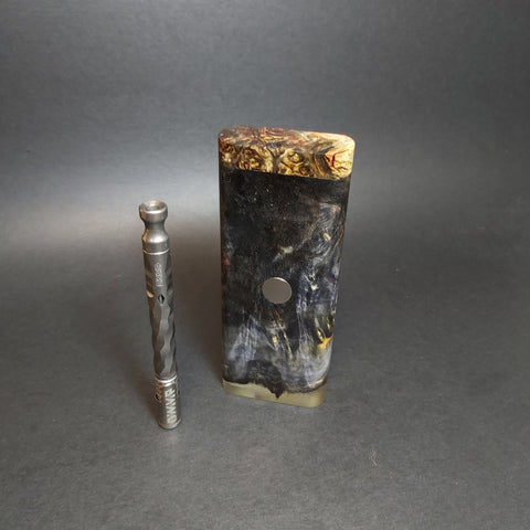Galaxy Burl FutoStash #1243 - Stabilized Boxelder Burl - DynaVap Stash