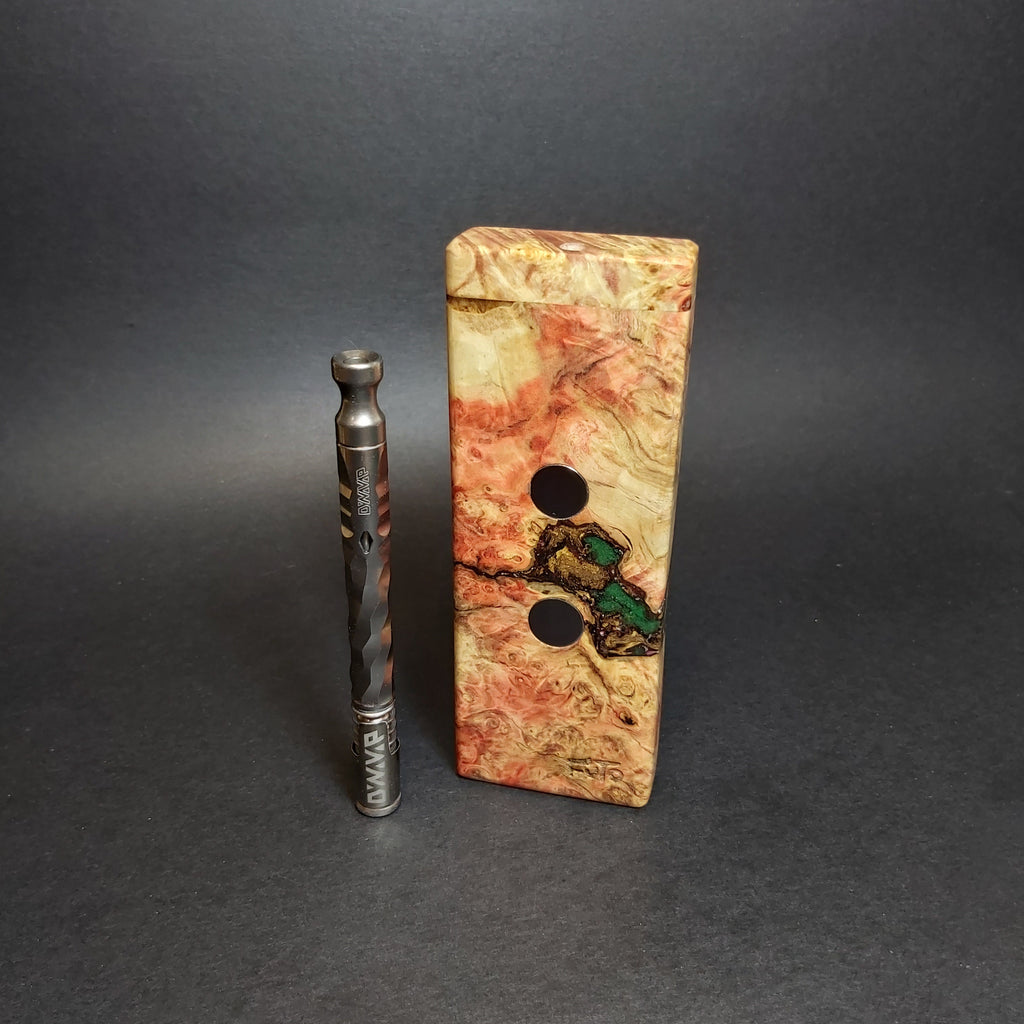 Galaxy Burl FutoStash SG2 #1249 - Black Magnets - Stabilized Boxelder Burl - DynaVap Stash