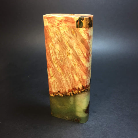 Galaxy Burl XL FutoStash #1280 - Stabilized Boxelder Burl - DynaVap Stash