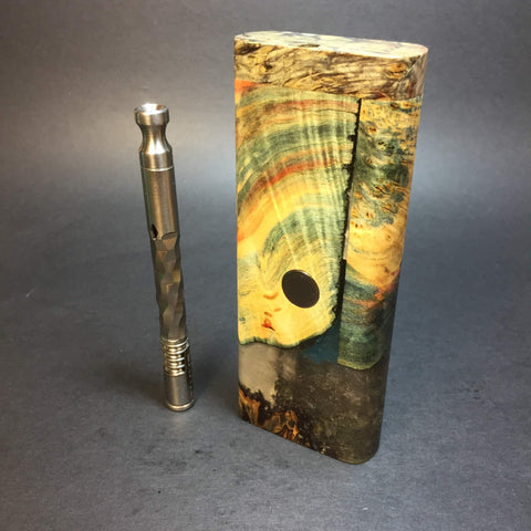 Galaxy Burl XL FutoStash #1281 - Stabilized Boxelder Burl - DynaVap Stash
