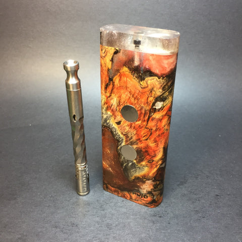 Galaxy Burl XL FutoStash #1300 - Stabilized Boxelder Burl - DynaVap Stash