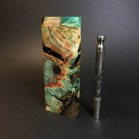 Galaxy Burl XL FutoStash #1306 - Stabilized Burl & Resin - DynaVap Stash