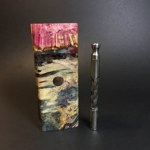 Galaxy Burl XL FutoStash #1307 - Stabilized Burl & Resin - DynaVap Stash