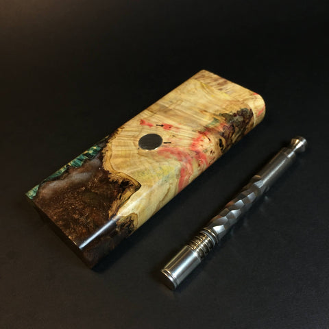 Galaxy Burl XL FutoStash #1310 - Stabilized Burl & Resin - DynaVap Stash