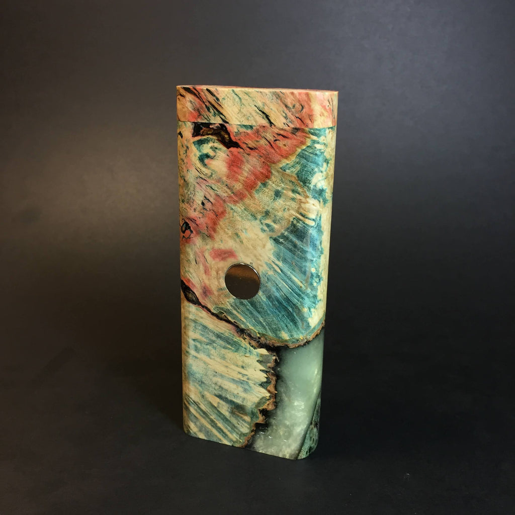Galaxy Burl XL FutoStash #1313 - Stabilized Burl & Resin - DynaVap Stash