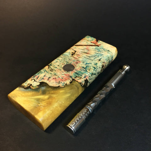 Galaxy Burl XL FutoStash #1314 - Stabilized Burl & Resin - DynaVap Stash