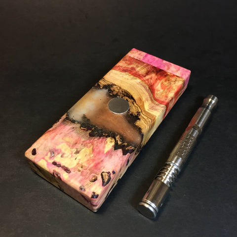Galaxy Burl FutoStash S #1319 - Stabilized Burl & Resin - DynaVap Stash