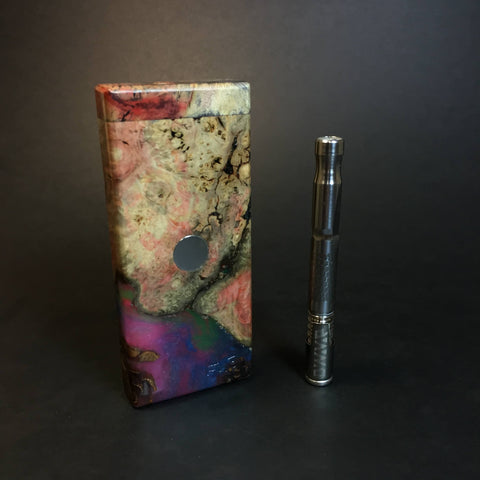 Galaxy Burl FutoStash S #1321 - Stabilized Burl & Resin - DynaVap Stash