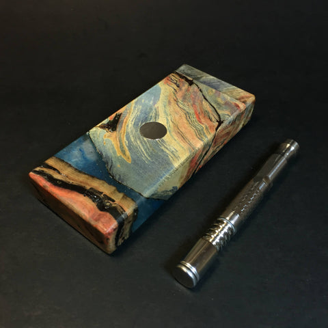 Galaxy Burl FutoStash S #1322 - Stabilized Burl & Resin - DynaVap Stash
