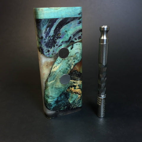 Galaxy Burl XL G2 FutoStash #1327 - Stabilized Burl & Resin - DynaVap Stash