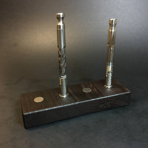 Futo Magnet Stand - Wenge - Holds x4 Vaporizers - DynaVap Stand - Desktop Magnetic Display Stand
