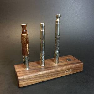 Futo Magnet Stand - Walnut - Holds x4 Vaporizers - DynaVap Stand - Desktop Magnetic Display Stand