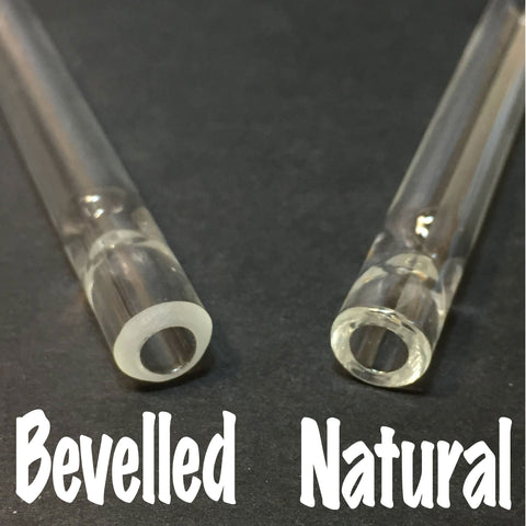 Clear Glass - 8mm Shortie - Glass One Hitters - Borosilicate Glass