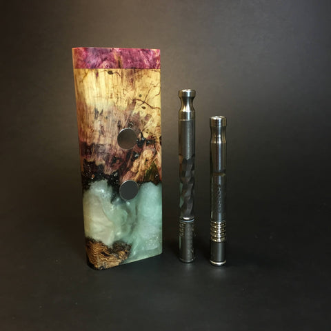 Galaxy Burl XL G2 FutoStash #1330 - Stabilized Burl & Resin - DynaVap Stash