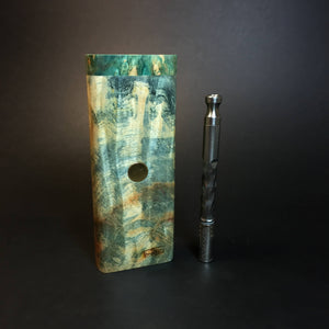 Galaxy Burl XL FutoStash #1335 - Stabilized Burl & Resin - DynaVap Stash