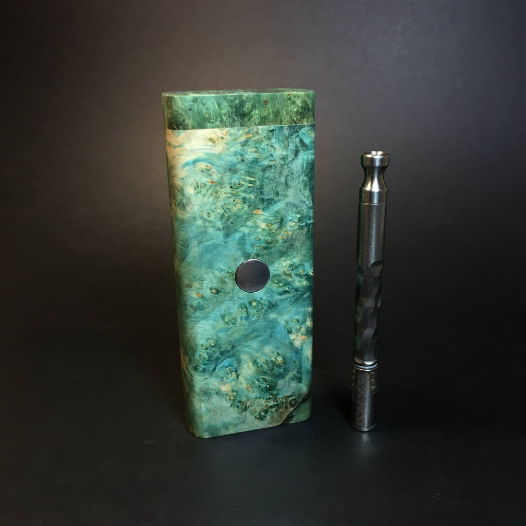 Galaxy Burl XL FutoStash #1339 - Stabilized Burl & Resin - DynaVap Stash