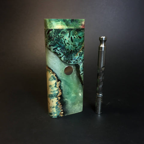Galaxy Burl XL FutoStash #1342 - Stabilized Burl & Resin - DynaVap Stash
