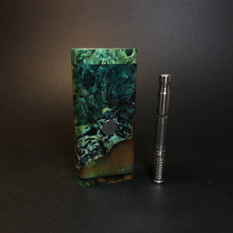 Galaxy Burl FutoStash R #1348 - Stabilized Burl & Resin - DynaVap Stash