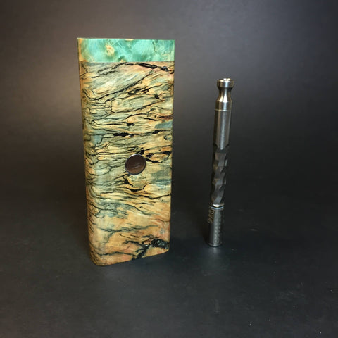 Galaxy Burl XL FutoStash #1352 - Stabilized Burl & Resin - DynaVap Stash