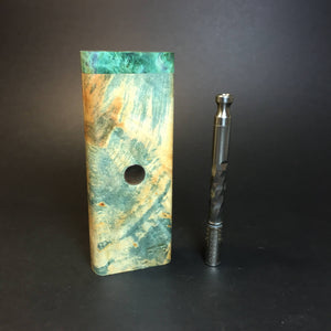 Galaxy Burl XL FutoStash #1354 - Stabilized Burl & Resin - DynaVap Stash