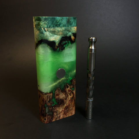 Galaxy Burl XL FutoStash #1311 - Stabilized Burl & Resin - DynaVap Stash