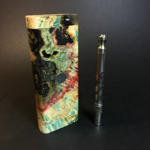 Galaxy Burl XL FutoStash #1316 - Stabilized Burl & Resin - DynaVap Stash