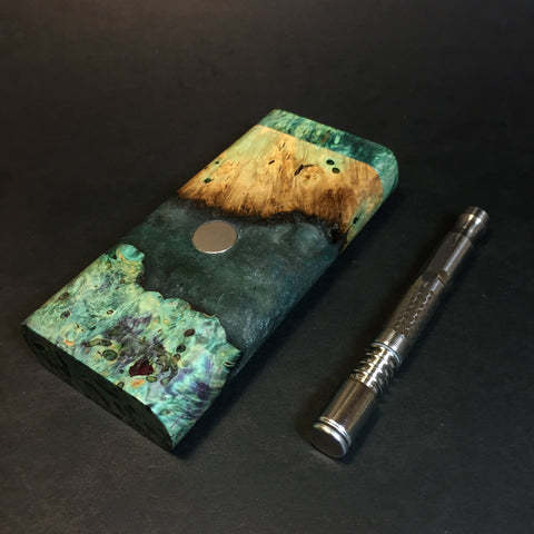 Galaxy Burl FutoStash R #1323 - Stabilized Burl & Resin - DynaVap Stash