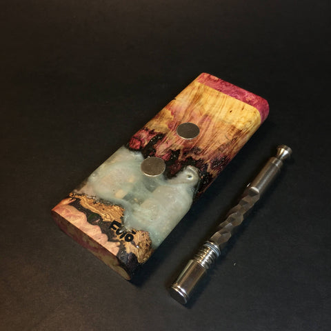 Galaxy Burl XL G2 FutoStash #1345 - Stabilized Burl & Resin - DynaVap Stash