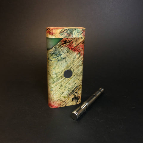 Galaxy Burl FutoStash R #1349 - Stabilized Burl & Resin - DynaVap Stash