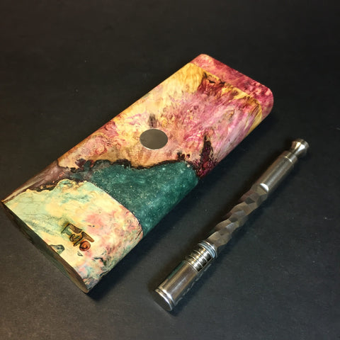 Galaxy Burl XL FutoStash #1353 - Stabilized Burl & Resin - DynaVap Stash