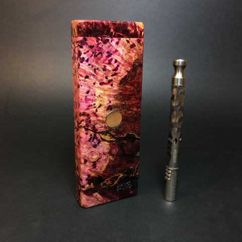 Galaxy Burl FutoStash SXL #1365 - Stabilized Boxelder Burl - DynaVap Stash