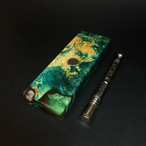 Galaxy Burl FutoStash SXL #1381 - Stabilized Boxelder Burl - DynaVap Stash