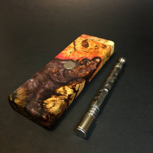 Galaxy Burl FutoStash SXL #1382 - Stabilized Boxelder Burl - DynaVap Stash