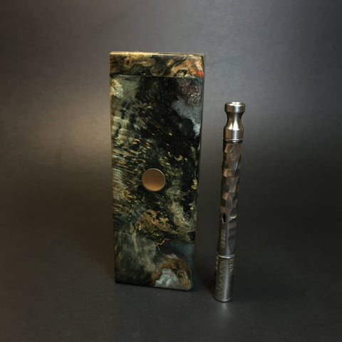 Galaxy Burl FutoStash SXL #1383 - Stabilized Boxelder Burl - DynaVap Stash