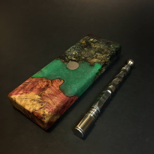 "Galaxy Burl FutoStash SXL #1386 - ""Billiards"" Stabilized Boxelder Burl - DynaVap Stash"
