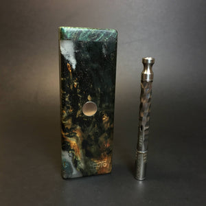 Galaxy Burl FutoStash SXL #1389 - Stabilized Boxelder Burl - DynaVap Stash