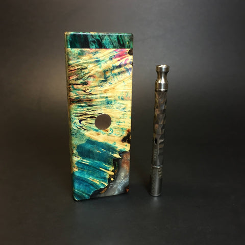Galaxy Burl FutoStash SXL #1391 - Stabilized Boxelder Burl - DynaVap Stash