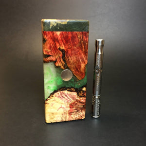 Galaxy Burl FutoStash S #1406 - Stabilized Boxelder Burl - DynaVap Stash