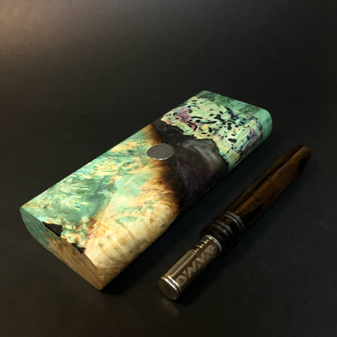 Galaxy Burl FutoStash XL #1409 - Stabilized Boxelder Burl - DynaVap Stash