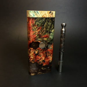 Galaxy Burl FutoStash XL #1411- Stabilized Boxelder Burl - DynaVap Stash