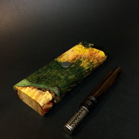 Galaxy Burl FutoStash XL #1414 - Stabilized Boxelder Burl - DynaVap Stash