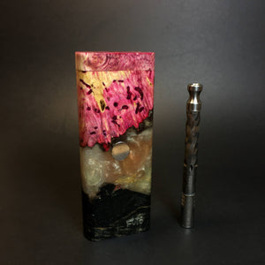 Galaxy Burl FutoStash XL #1417 - Stabilized Boxelder Burl - DynaVap Stash