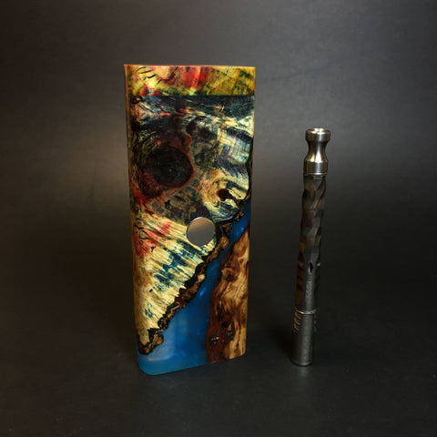 Galaxy Burl FutoStash XL #1418 - Stabilized Boxelder Burl - DynaVap Stash