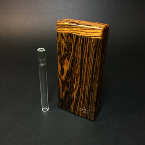 Futo Sprouts - Bocote - Small Glass One Hitter - 8mm - One Hitter Box - Dugout - Made in Canada