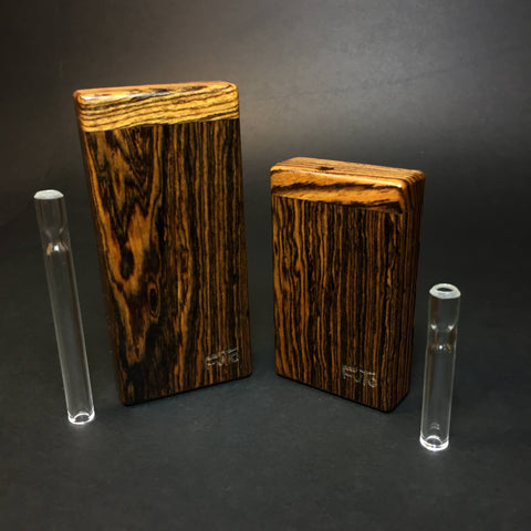 Futo Micro - Bocote  - Shortie Glass One Hitter- One Hitter Box - Dugout - Made in Canada