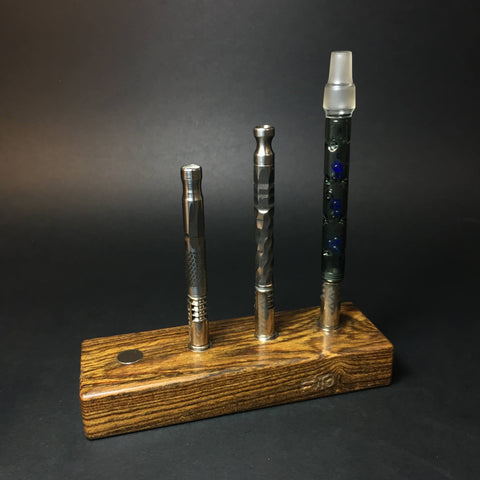 Futo Magnet Stand - Bocote - Holds x4 Vaporizers - DynaVap Stand - Desktop Magnetic Display Stand