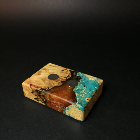 Futo Galaxy Burl Magnet Stand #1448 - DynaVap Stand - Desktop Magnetic Display Stand